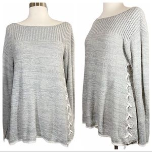 Knox Rose Side Lace Up Sweater 131
